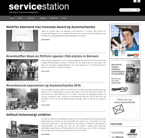 Service Station Magazine - banner website
