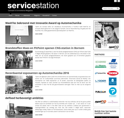 Service Station Magazine - partner website