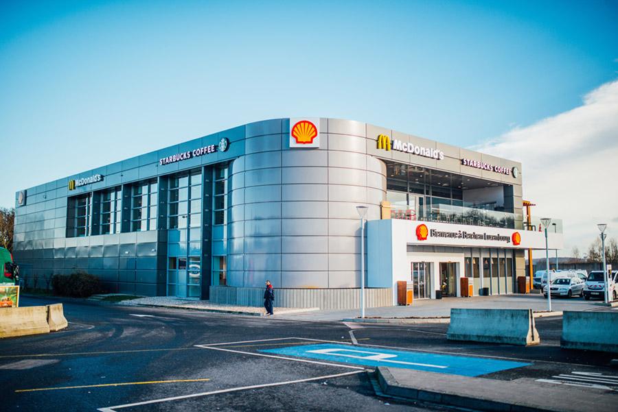 Grootste Shell Station Ter Wereld In Luxemburgse Berchem