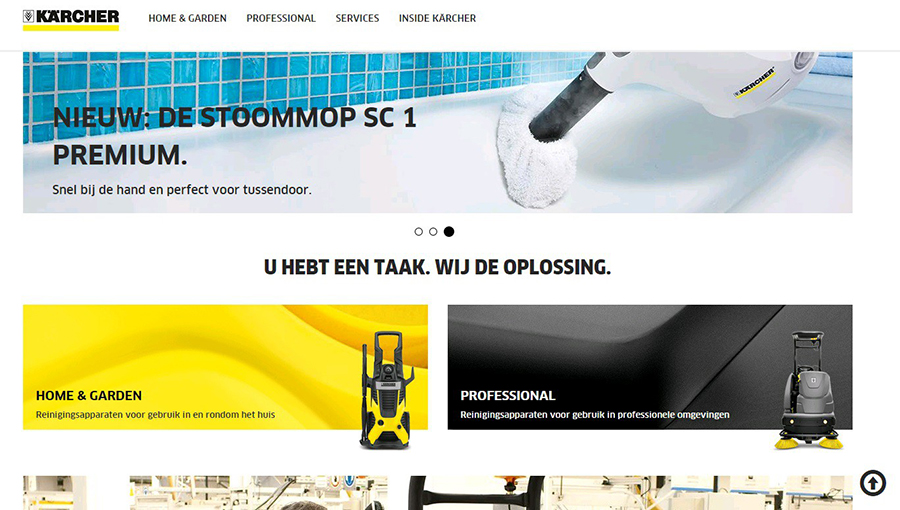 Nieuwe Kärcher-website is online