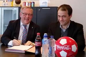 Samenwerking tussen Belgische Voetbalbond en Coca-Cola